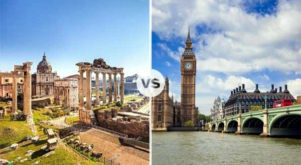 Rome and London fight over which is safer!