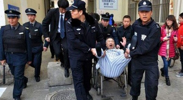 Patient forcibly removed by police from hospital