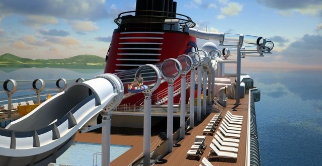 See Through Disney Cruise Water Slide