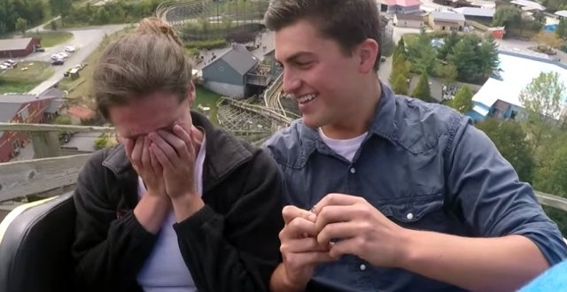 Proposing on the roller coaster