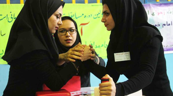 Women's arm wrestling championship