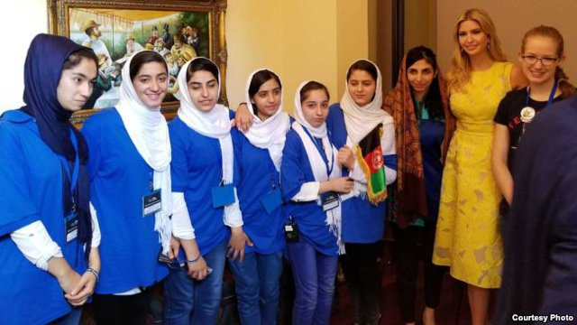 Afghan girl's Robotics team in Washington