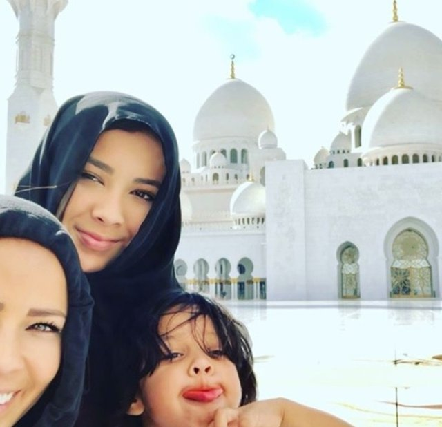 The wives of the Real Madrid players in the UAE