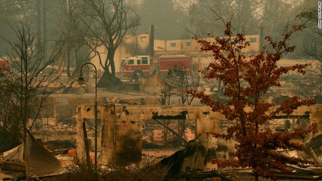 Pictures of California a week after the fire