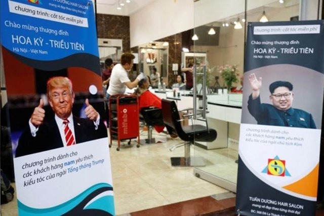 haircut trim with Trump model!