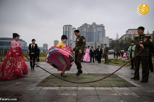 Brides and grooms in North Korea