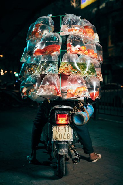 Motorcycle delivery's in Vietnam