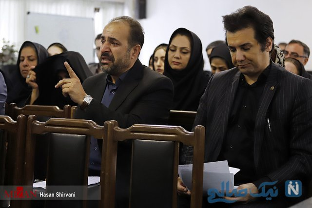 Presence of Hesam Navab Safavi, famous actor in the court session