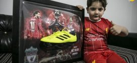 Mohammed Salah donated his shoes to a Syrian child